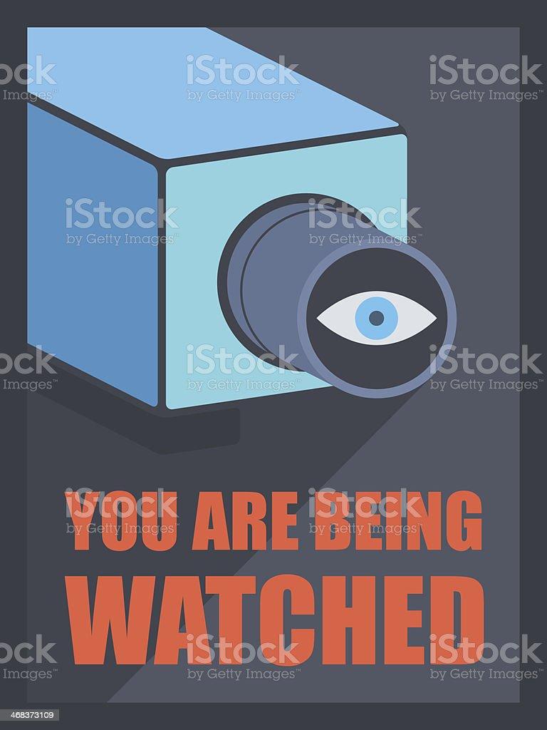 Illustration if a security camera vector art illustration