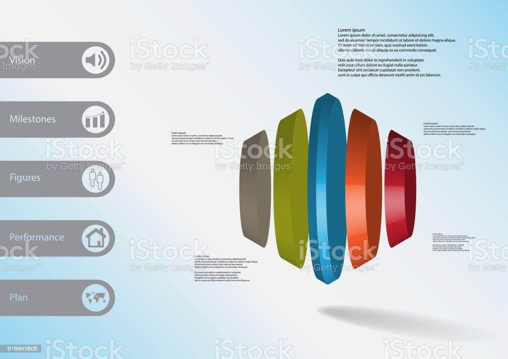 3d Illustration Infografik Vorlage Mit Motiv Der Runde Sechseck ...