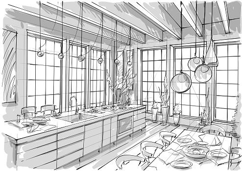 Illustration interior design