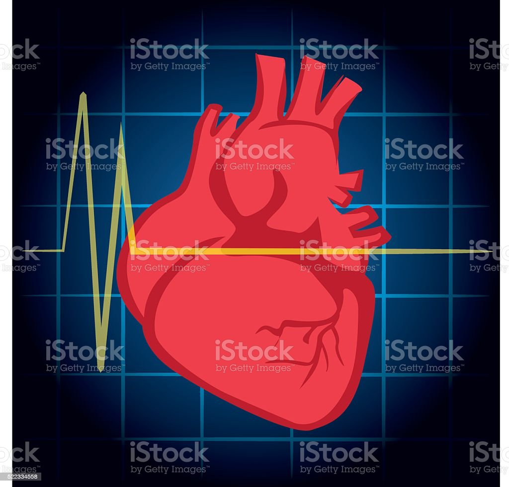 Illustration Is First Aid Icon Heart Heart Attack Cpr Stock Vector ...