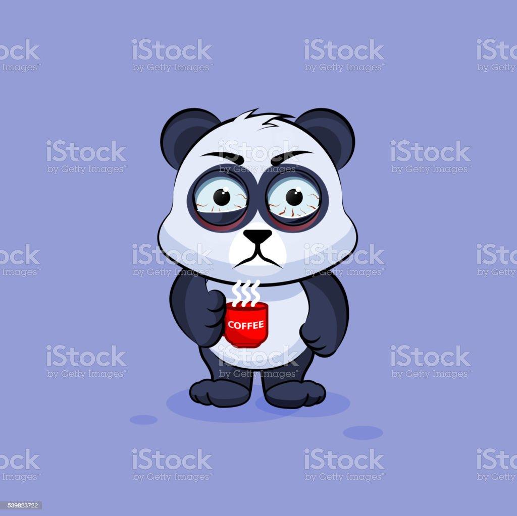 Illustration Isolé Emoji Caractère Panda Nerveux En Dessin