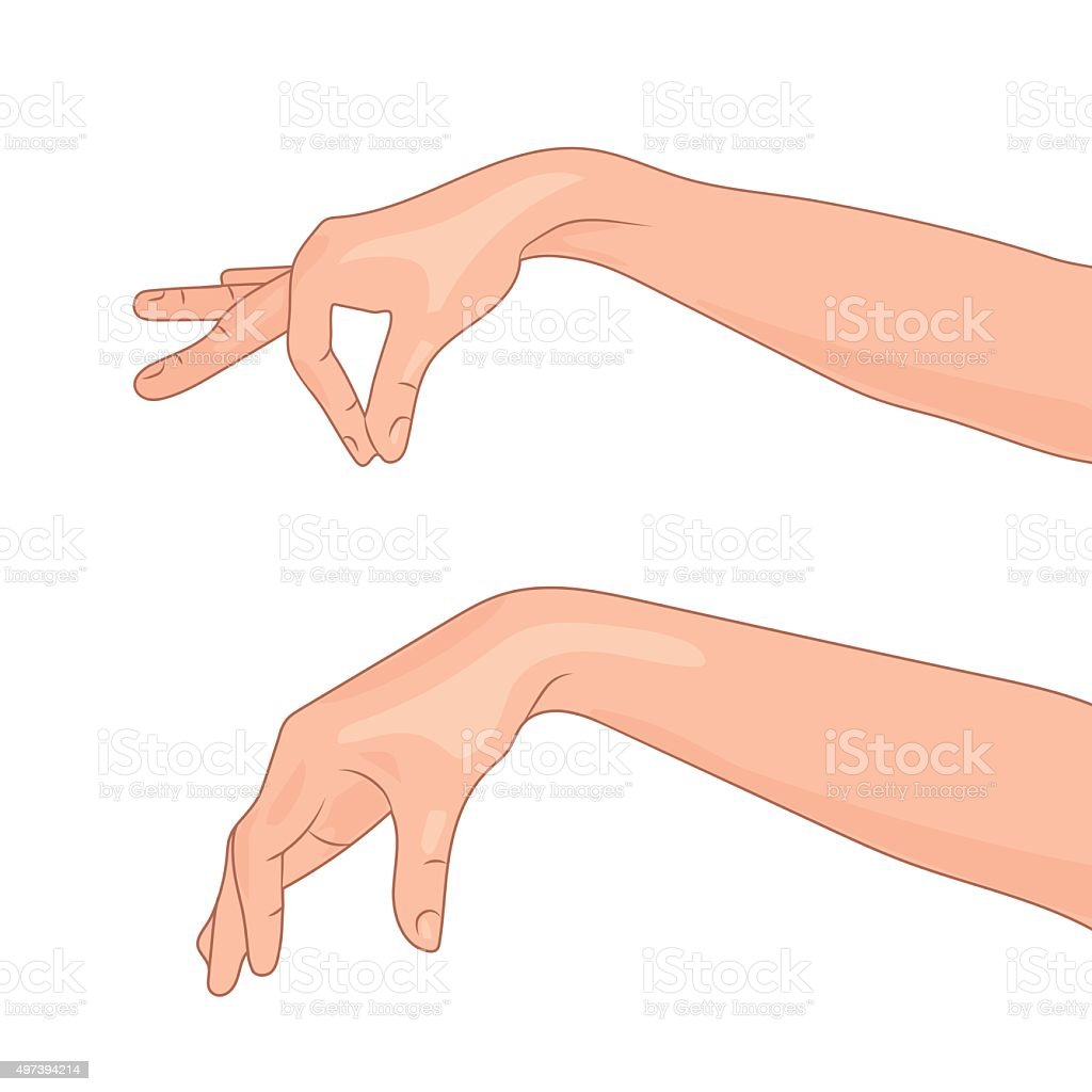 Illustration isolated hand in a variety of activities vector art illustration
