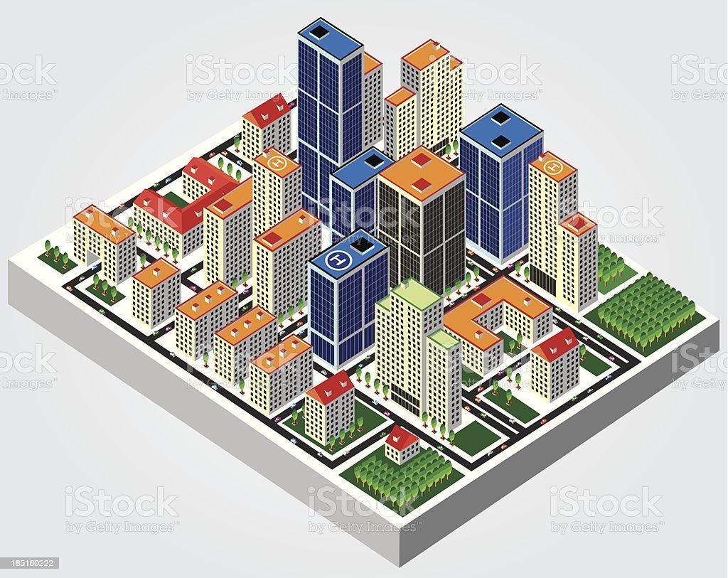 Illustration: Isometric city royalty-free illustration isometric city stock vector art & more images of adult