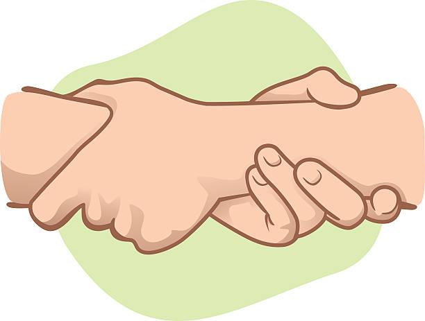 illustrazioni stock, clip art, cartoni animati e icone di tendenza di illustrazione appoggiato le mani tenendo un l'altro polso - mano donna dita unite
