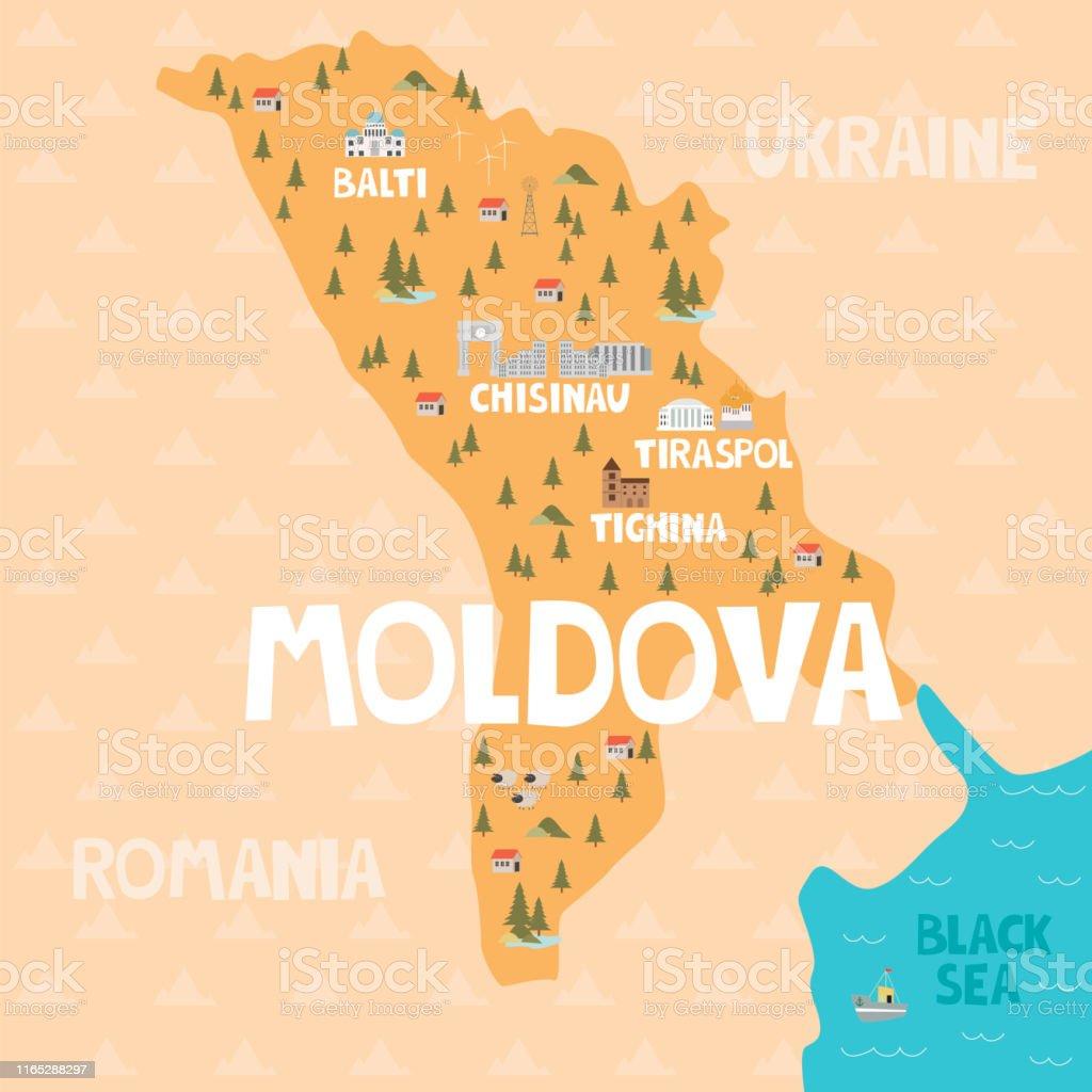 Taufspruch F303274r Karte.Moldawien Karte Europa