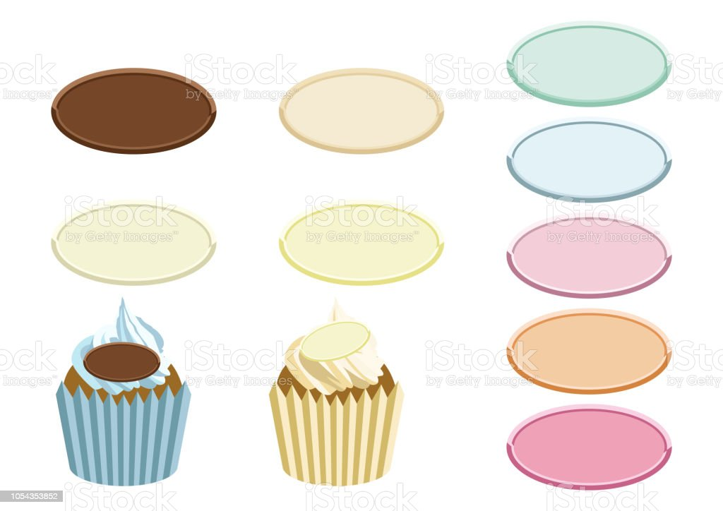 Illustration material of sweets. Material collection of chocolate plate. Material of chocolate for designers. For decoration of celebrations. vector art illustration
