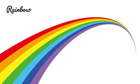 Illustration material of the vector of a certain perspective rainbow
