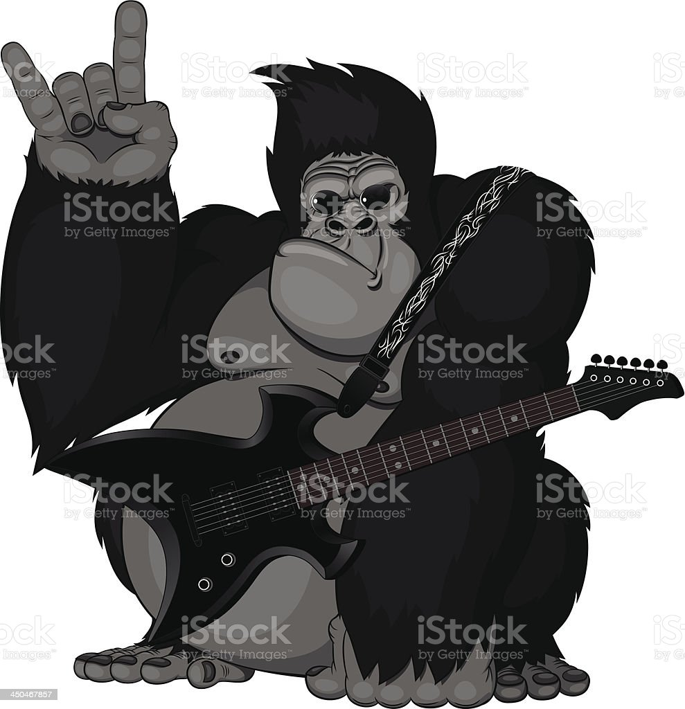 illustration: monkey with a guitar royalty-free illustration monkey with a guitar stock vector art & more images of africa