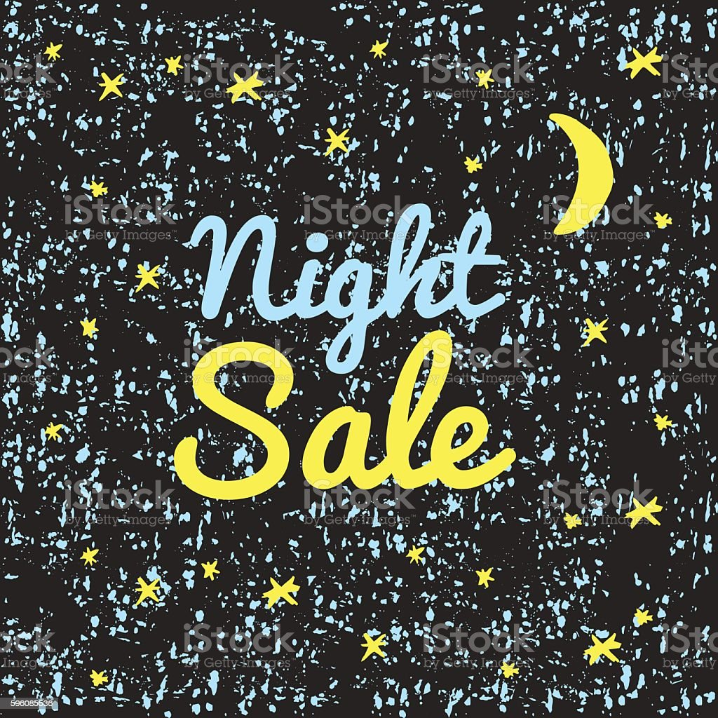 Illustration night sale. royalty-free illustration night sale stock vector art & more images of black color