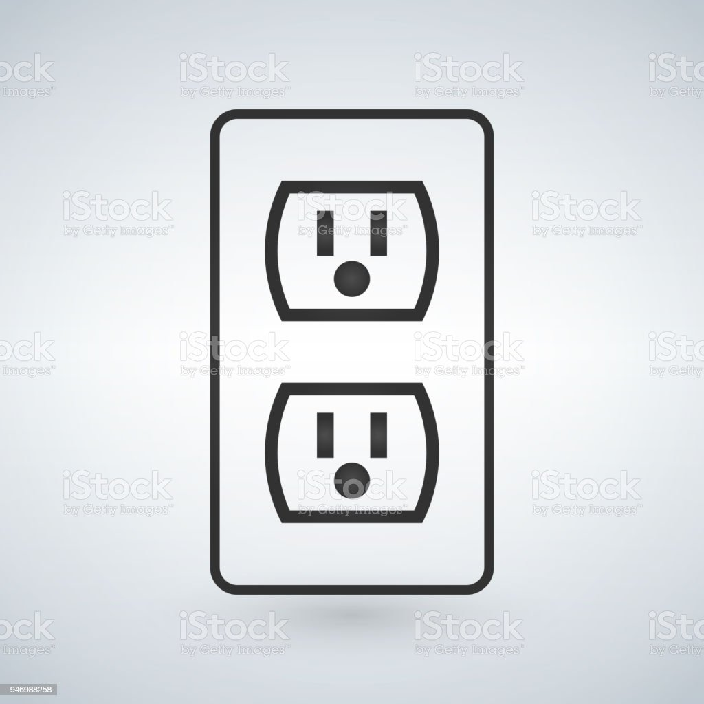Illustration Of A 110v Power Outlet Isolated On A Modern Background ...