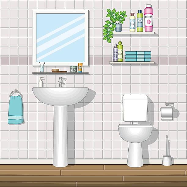 Royalty Free Public Restroom Mirror Clip Art Vector