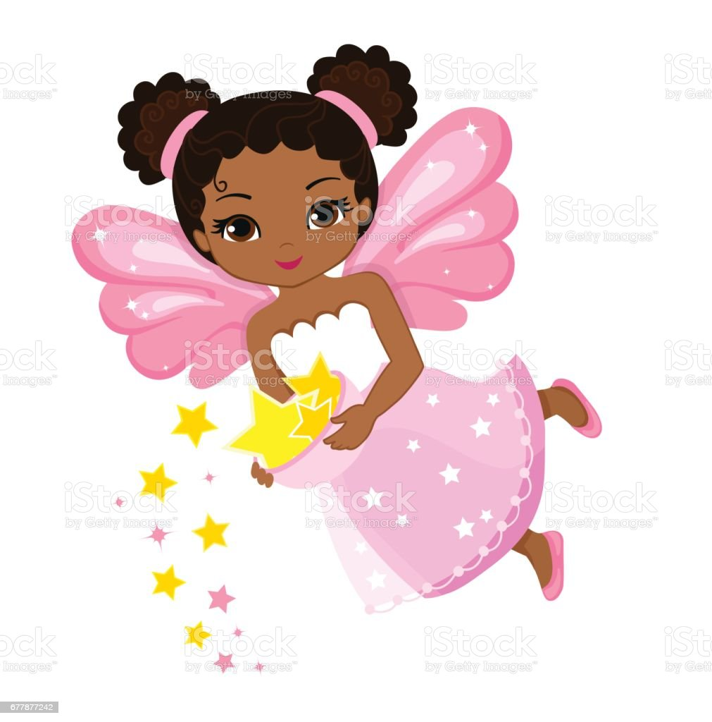 royalty free african american fairies clip art vector images rh istockphoto com fairy clip art free printable fairy tale clipart free