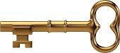 Illustration of a big golden key