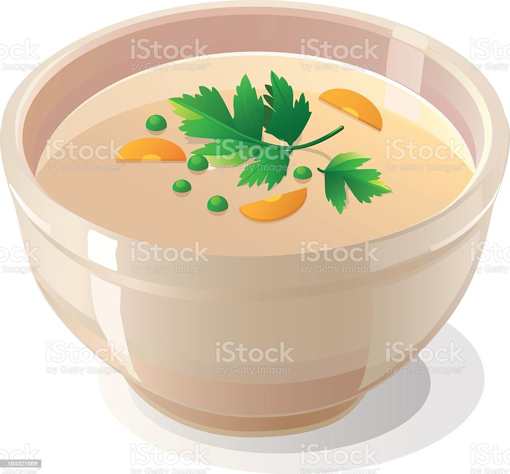 Bowl Of Chicken Noodle Soup Clipart