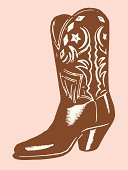 istock A illustration of a brown cowboy boot 181208122
