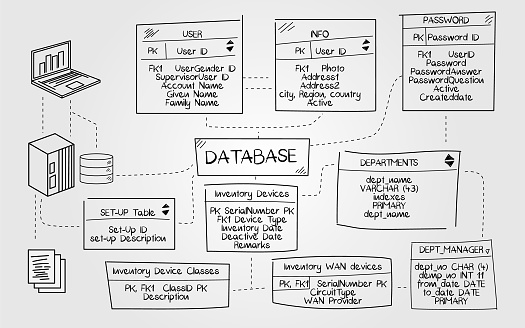 Illustration of a business database