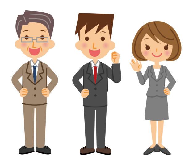 ビジネス チームのイラスト。 - ビジネスマン 日本人点のイラスト素材/クリップアート素材/マンガ素材/アイコン素材