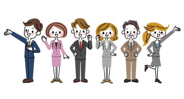 ビジネス チームのイラスト。 - オフィスワーク点のイラスト素材/クリップアート素材/マンガ素材/アイコン素材