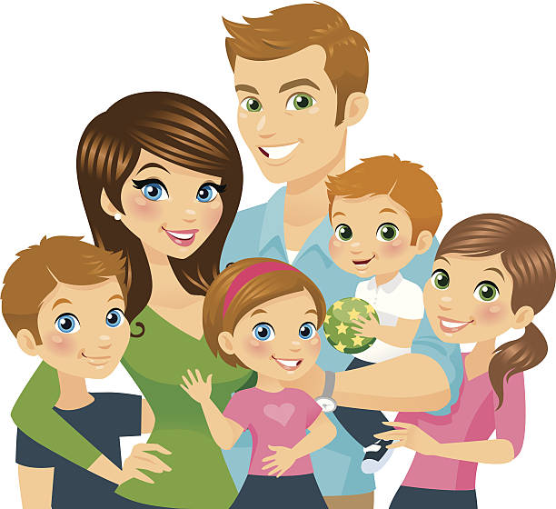liebevolle familie - adoption stock-grafiken, -clipart, -cartoons und -symbole