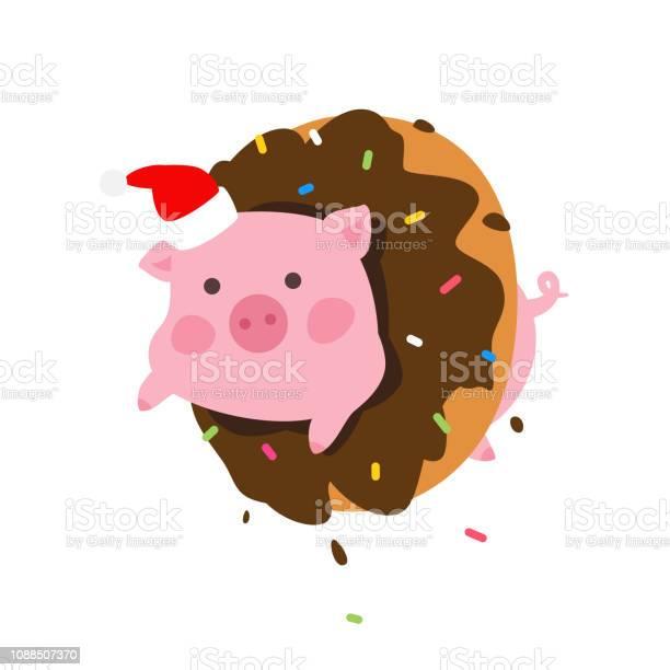 Illustration of a cartoon pig in a donut vector pork in santa claus vector id1088507370?b=1&k=6&m=1088507370&s=612x612&h=8xr2qkyphlalrqfruayijirv2tiuslwhrvpphkwy0u8=