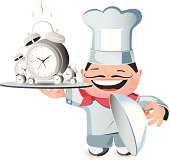 Chef with Clock illustration