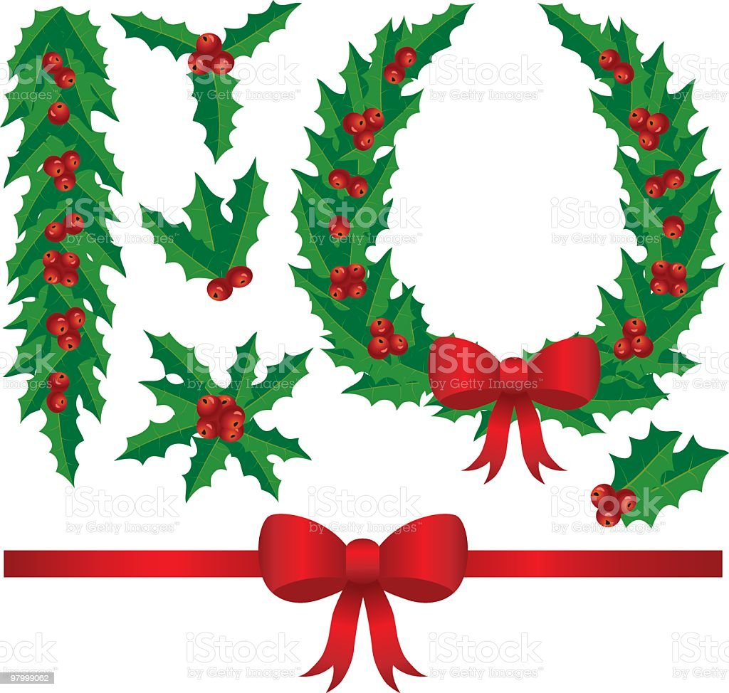 Illustration of a christmas design elements - holly berry royalty-free illustration of a christmas design elements holly berry stock vector art & more images of berry