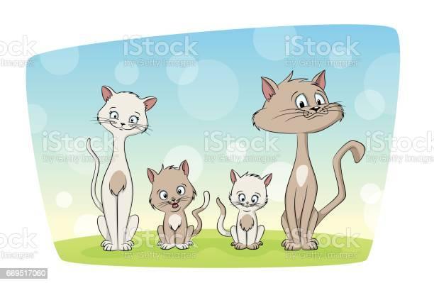 Illustration of a cut cat family vector id669517060?b=1&k=6&m=669517060&s=612x612&h=kxzkaigafw8byq4uf9marrehldo2dojdjsktagkjevc=