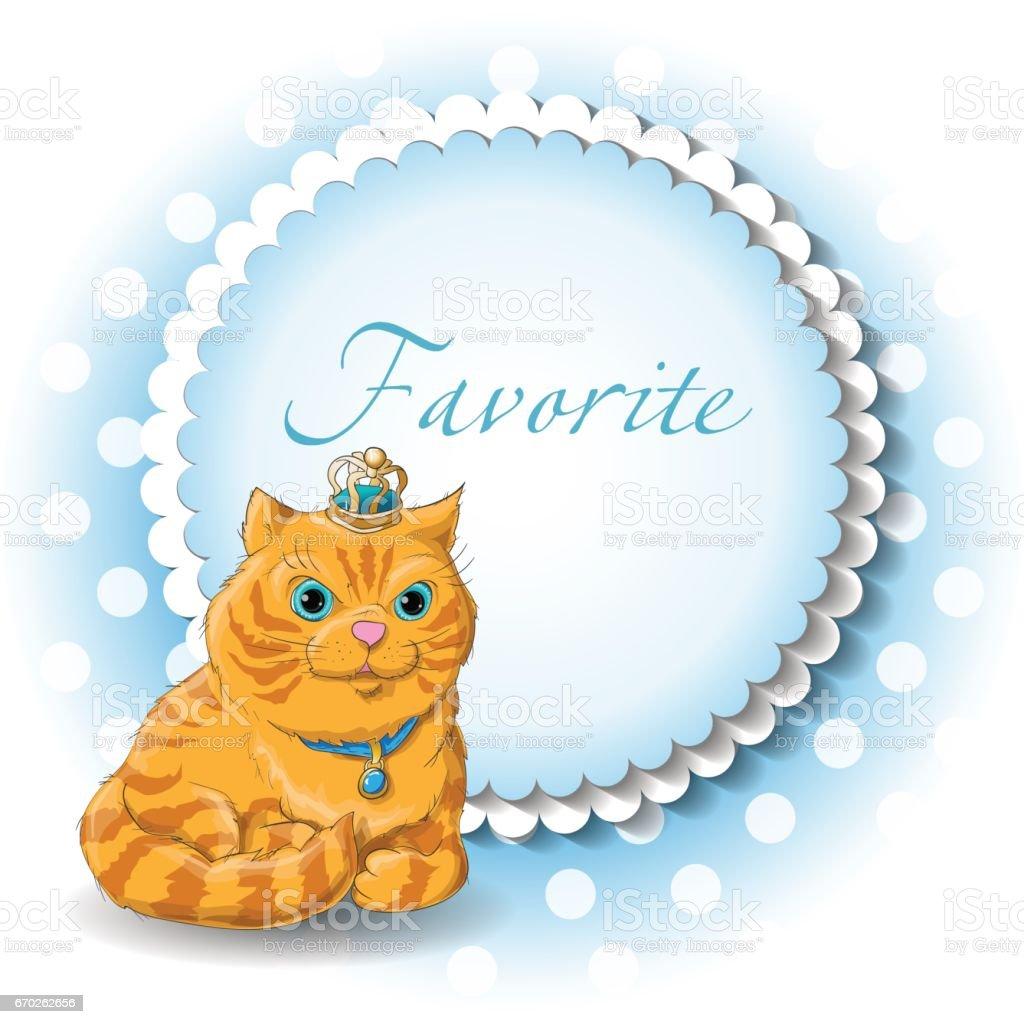 Illustration of a cute cat векторная иллюстрация