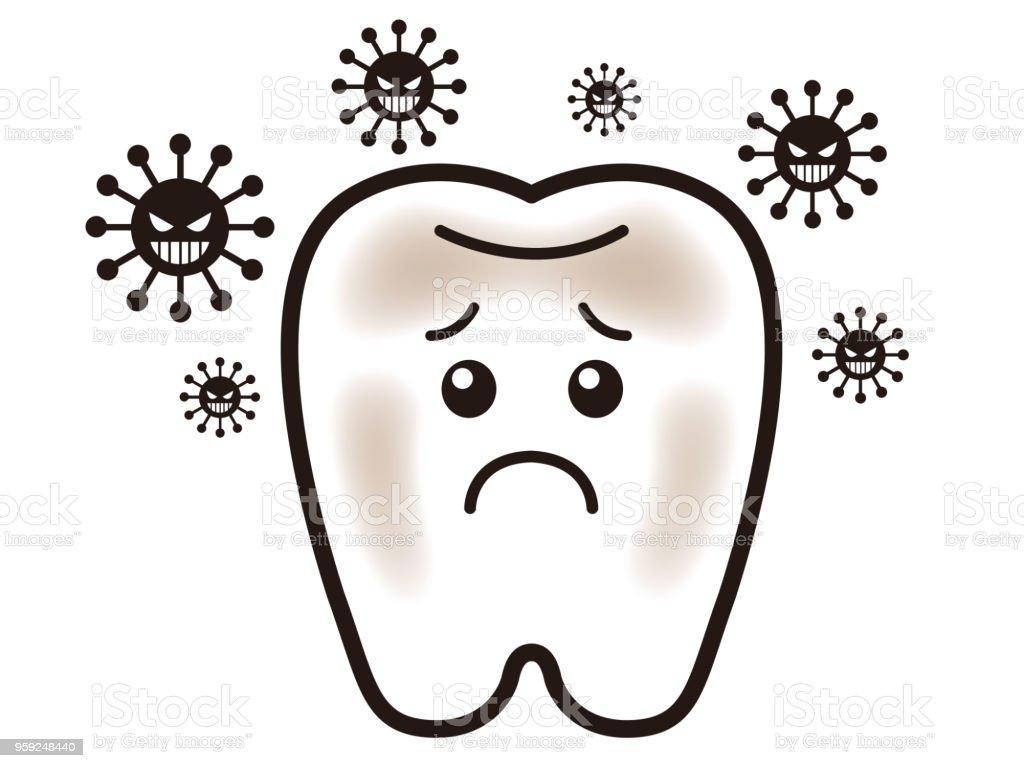 虫歯のイラスト イラストレーションのベクターアート素材や画像を多数