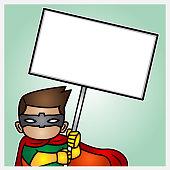 Illustration of a demonstrant hero