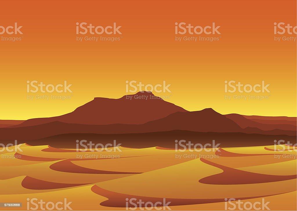 Illustration of a desert during sunset royalty-free illustration of a desert during sunset stock vector art & more images of barren