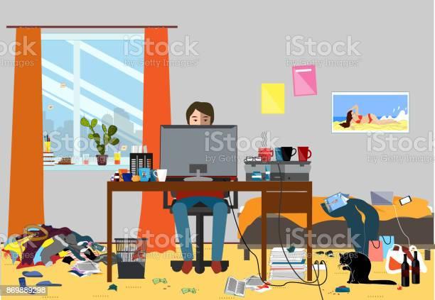 Illustration of a disorganized room littered with pieces of trash vector id869889298?b=1&k=6&m=869889298&s=612x612&h=g2iwq tyjxtkfavmtbhpv5hiecbqj6jehdlkprfbfhu=
