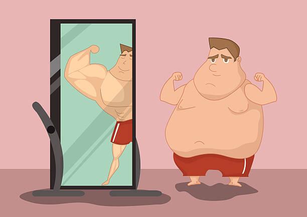 illustrations, cliparts, dessins animés et icônes de illustration de la matières grasses et slim garçons lui - homme slip