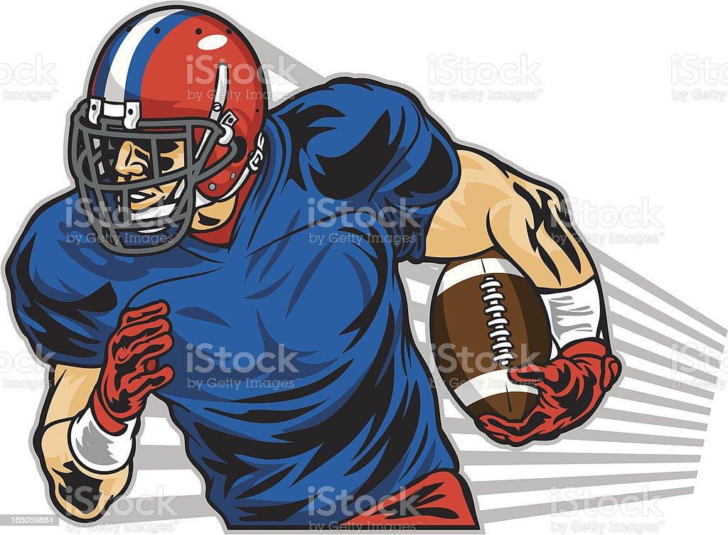 Illustration of a football player running royalty-free stock vector art