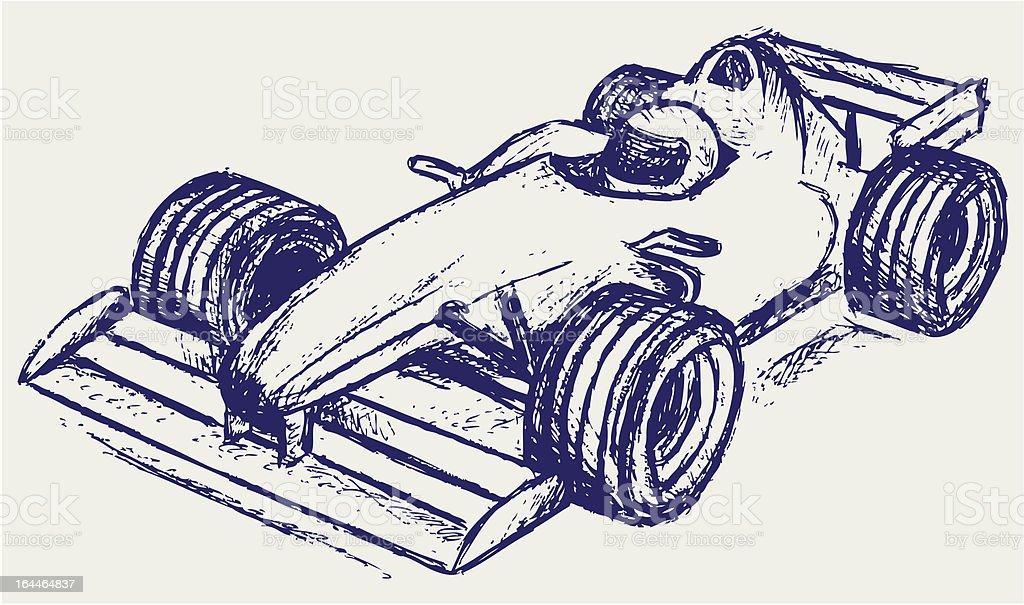 Illustration of a Formula 1 race car vector art illustration