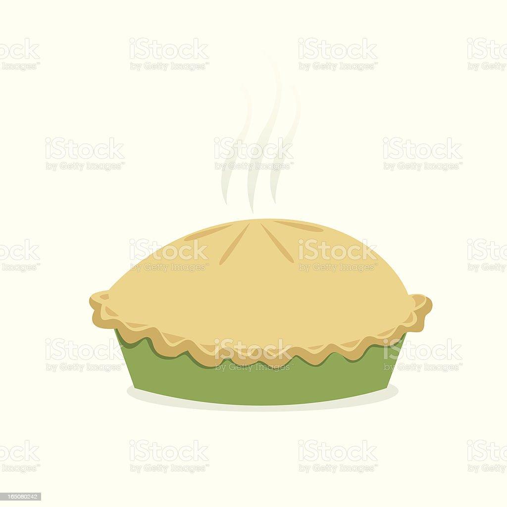 Illustration of a freshly baked pie isolated on white vector art illustration