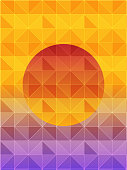 Illustration of a geometric background of sun. Vector of geometric background. EPS10 compatible