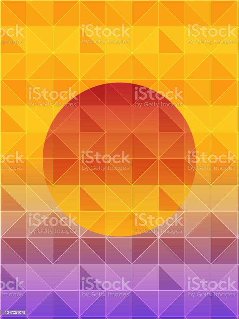 Illustration of a geometric background of sun. Vector of geometric background. EPS10 compatible vector art illustration