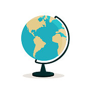 istock Illustration of a globe on a training stand 1328899856