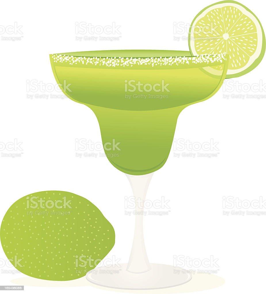 Illustration of a green margarita with limes vector art illustration