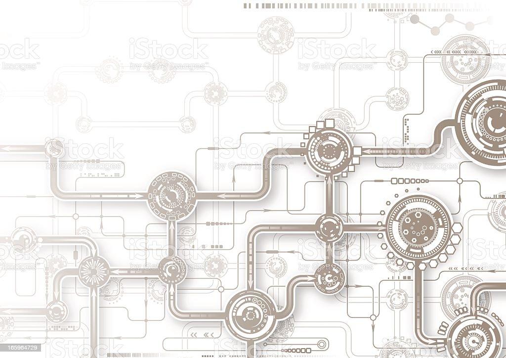 Illustration of a grey tech composition vector art illustration