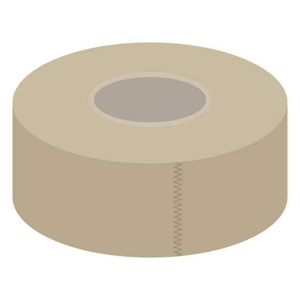 Illustration of a gum tape Illustration of a gum tape masking tape stock illustrations