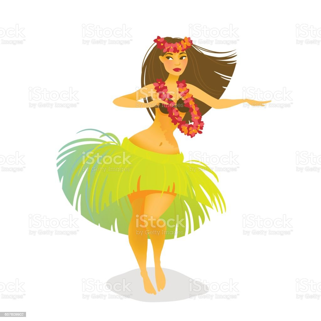 royalty free hula girl clip art vector images illustrations istock rh istockphoto com cute hula girl clipart hula girl clipart free