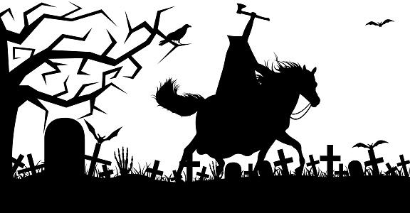 Illustration of a headless horseman