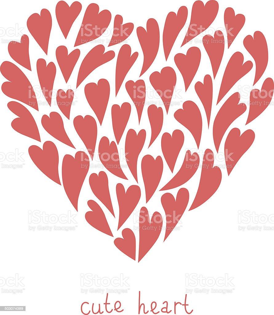 Illustration von Herzen für Valentinstag oder Hochzeit. – Vektorgrafik