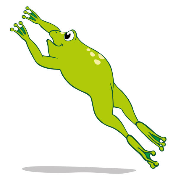 Frog Jumping Clipart Royalty Free Ju...