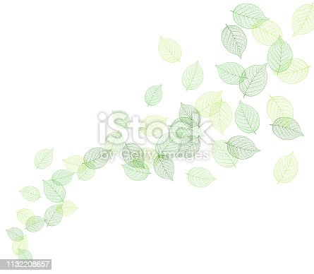 Illustration of a leaf leaf dancing