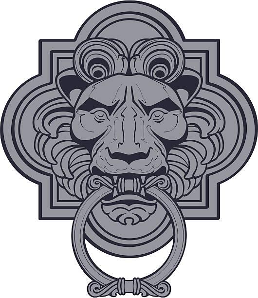 lion 노커 - 노커 stock illustrations