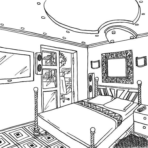 Bedroom Clip Art: Best Tidy Bedroom Illustrations, Royalty-Free Vector