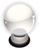 crystal ball on a white background, extra files;ai,pdf,png,jpeg(hi-res)